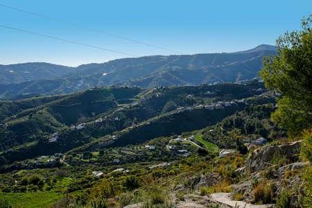 Frigiliana rural landscape- one of the beautiful pueblos blancos in Spanish Andalusia, Costa del Sol, Spain