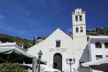 church of San Antonio, Frigiliana, Andalusia, Spain Stock Photo