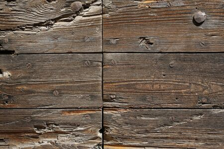 rivets: Ancient wooden boards background