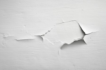 rupture: Peeeling painted white wall background