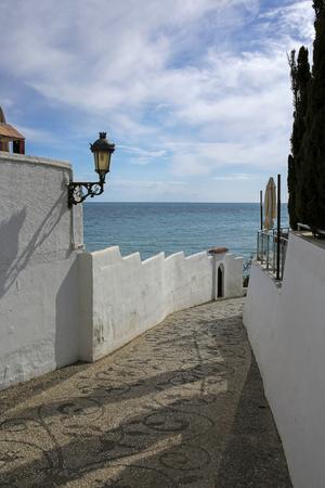 nerja: Sea promenade in Nerja, Costa del Sol, M�laga, Spain