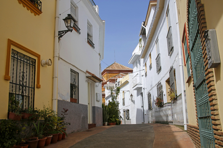 One of the most beautiful streets in Torrox, Costa del Sol, Spain