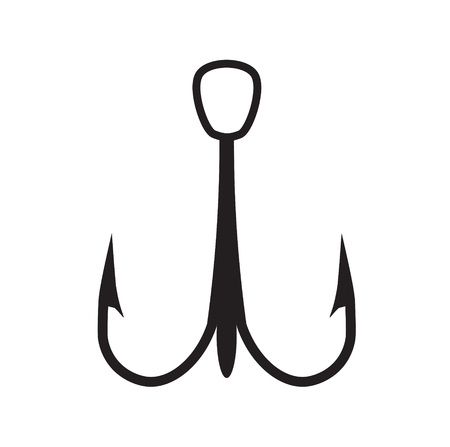 fishhook: Fish hook icon illustration Illustration