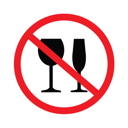 No beber alcohol Vectores