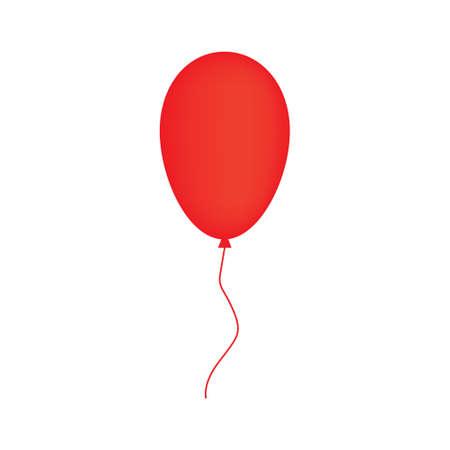 red balloon- vector illustration