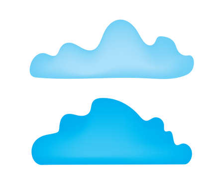 two blue clouds- vector illustration
