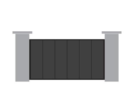 illustration moderne de vecteur de porte