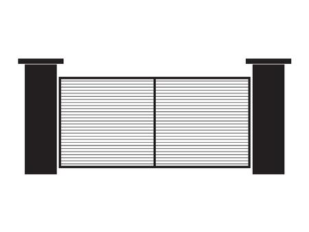zwarte moderne poort - vectorillustratie