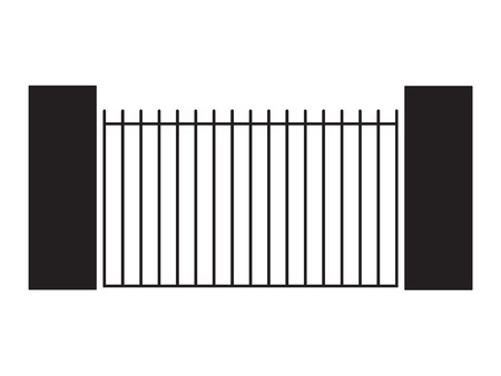 black modern gate- vector illustration