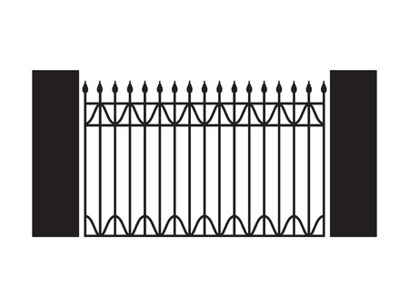 black forged gate