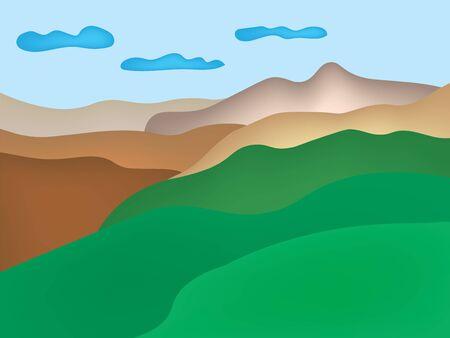 mountain landscape- vector illustration