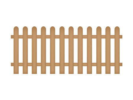 wooden fence- vector illustration