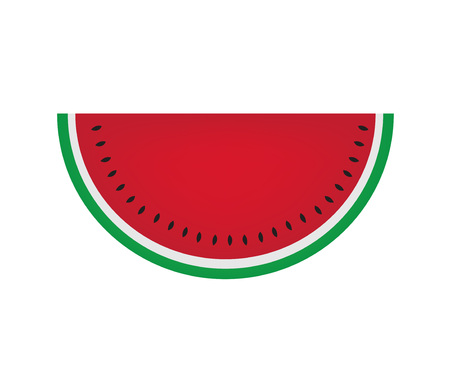 watermelon fruit icon- vector illustration