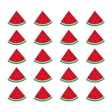 Watermelon fruit pattern. Illustration