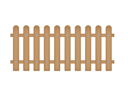 wooden fence- vector illustration
