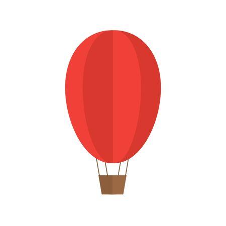 red hot air balloon- vector illustration