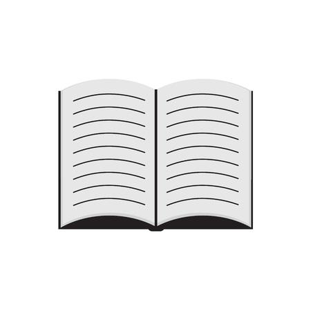 open book- vector illustration