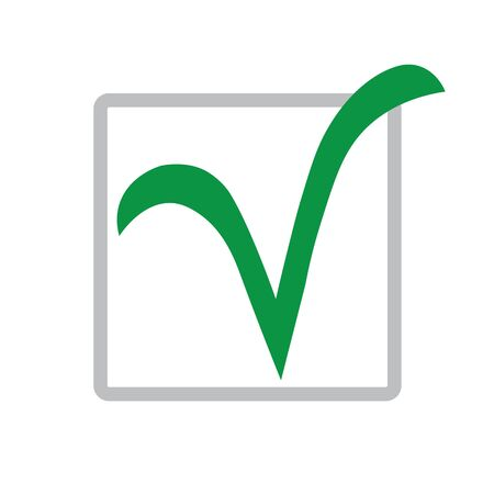 Green check mark icon. Illustration