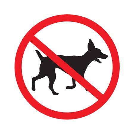 Geen honden tekenen illustratie. Stock Illustratie