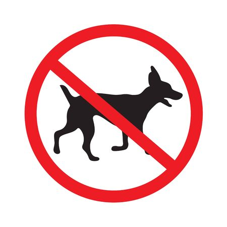 No dogs sign illustration.