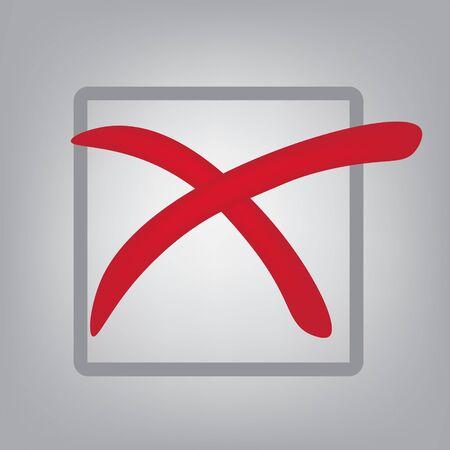 Red cross icon vector illustration Illustration