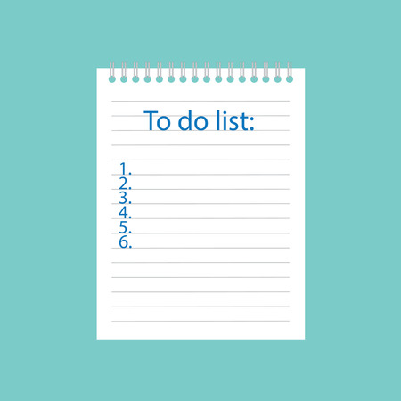This is a list written in notebook- vector illustration