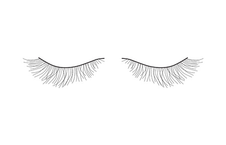 black pair of eyelashes extension- vector illustration Illustration