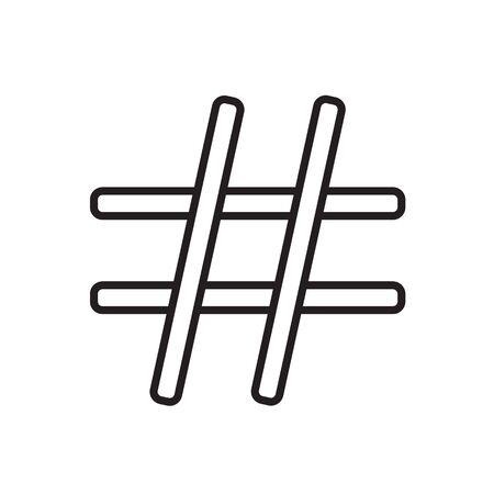 black hashtag icon- vector illustration