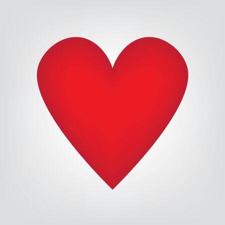red heart icon- vector illustration Illustration