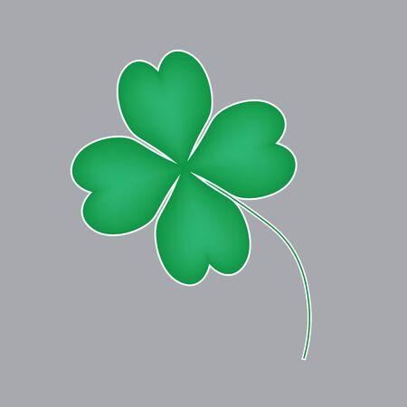 four leaf clover icon Illustration