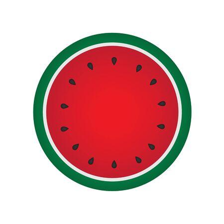 Watermelon fruit icon. Illustration
