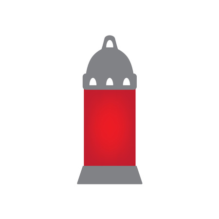 A cemetery candle for All Saints day vector illustration. Illustration