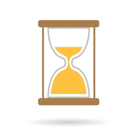 An hourglass icon vector illustration