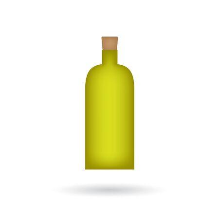 Bottle of olive oil icon vector illustration