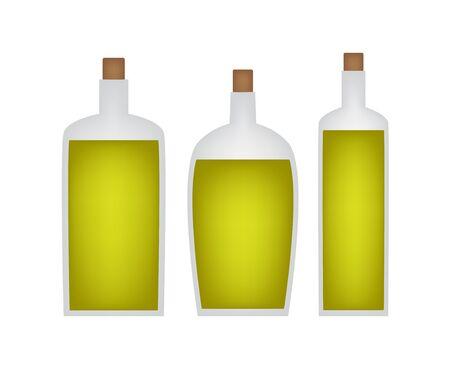 A bottle of olive oil icon on white background. Illustration