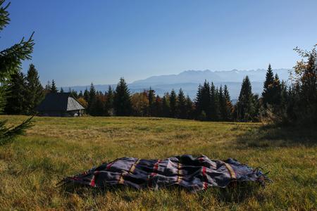 striped blanket on the Tatra Mountains, Poland