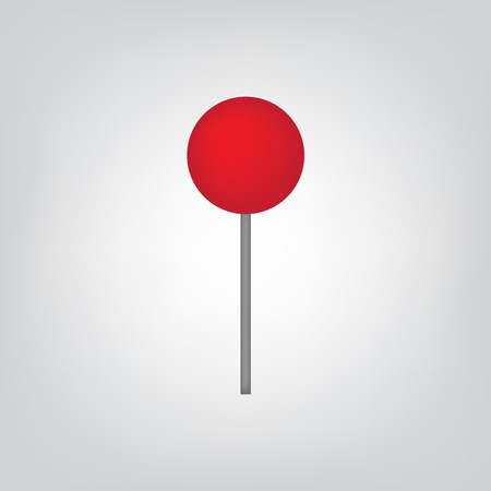Red map pin icon- vector illustration