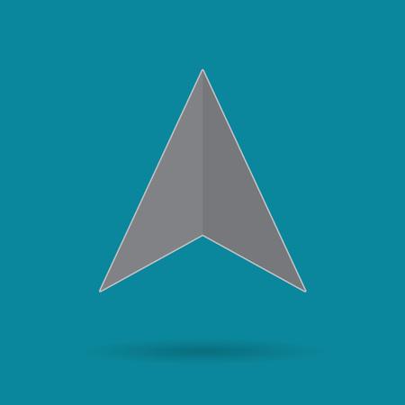 Navigation icon- vector illustration
