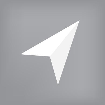 White navigation icon- vector illustration