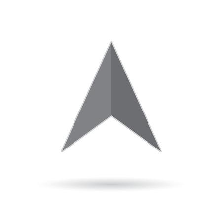 Gray navigation icon- vector illustration Illustration