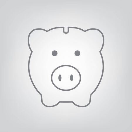 Piggy bank icon vector illustration