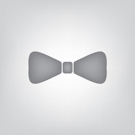 gray bow tie icon- vector illustration Illustration