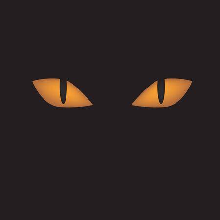 cat eyes icon on black background