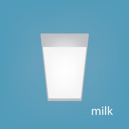 glass of milk icon- vector illustration