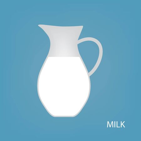 glass jug of milk icon- vector illustration