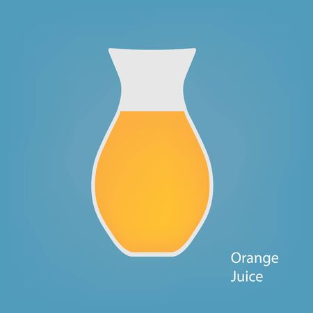 carafe with orange juice- vector illustration