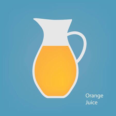 jug with orange juice- vector illustration Illustration