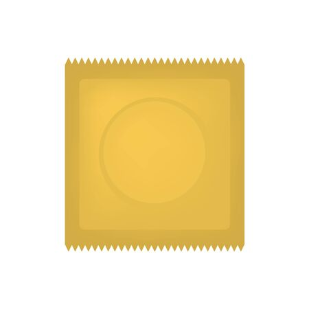 gold condom package icon
