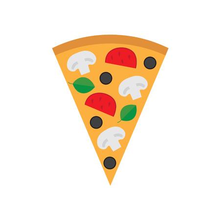 vegetarian pizza- vector illustration