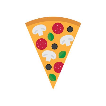 pizza pepperon- icon illustration